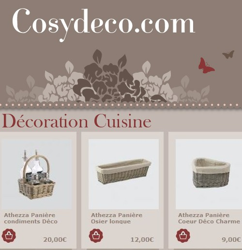 Cosy d co boutique deco charme maison r tro vintage campagne for Deco cuisine boutique