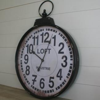 Horloge gousset deco maison style industriel antic line - Horloge type industriel ...
