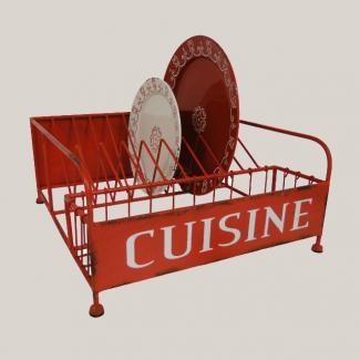 Egouttoir cuisine decoration style bistrot boutique deco - Objet deco cuisine rouge ...